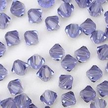 4mm Preciosa Crystal Bicone Tanzanite - 20